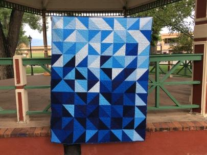 Blue Ombre Quilt
