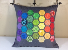 Rainbow Hexie Pillows