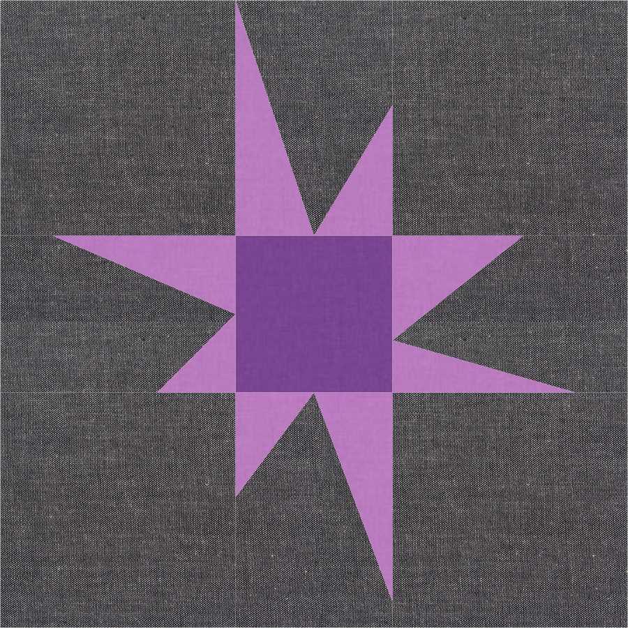 Wonky purple star